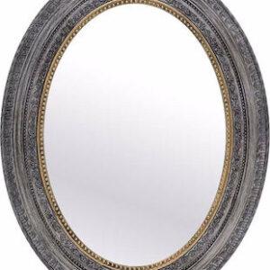 INART Καθρέφτης Τοίχου 3-95-925-0007 Οβαλ 60x3x77  PL  αντικέ γκρι/χρυσό χρώμα.
