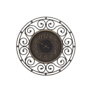 Ρολόι Τοίχου 3-20-828-0116 Gold-Black Inart 1 Ρολόι  46 cm, Ύψος: 3 cm