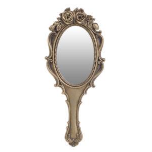 Inart Καθρέπτης Χειρός Χρυσο Πολυρεζίν 3-95-634-0003