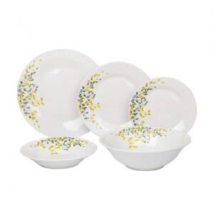 Πιάτα πορσελάνης σετ 20 τεμαχίων Φύλλα λευκό Click 6-60-127-0005