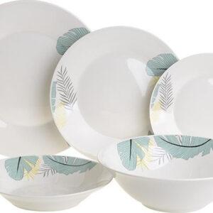 Πιάτα πορσελάνης σετ 20 τεμαχίων Φύλλα λευκό/πράσινο Click 6-60-127-0005