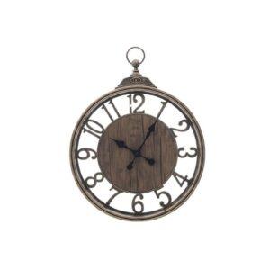 Ρολόι Τοίχου 3-20-828-0119 40X6X55 Χρυσο - Μαυρο Πλαστικο Inart