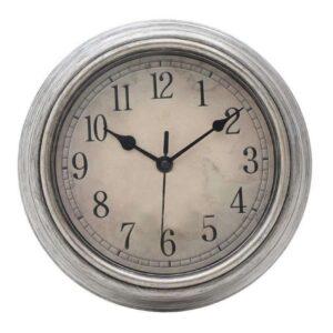 Ρολόι Τοίχου 3-20-828-0088 Δ22 Silver-Ecru Inart Πλαστικο