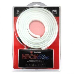 ΣΕΤ ΤΑΙΝΙΑ Spotlight LED NEON LOOK FLEX 3M ΜΕ ΜΕΤΑΣΧΗΜΑΤΙΣΤΗ 12V ΚΑΙ ΣΤΗΡΙΓΜΑΤΑ - 10W IP67 DIMMABLE 5177
