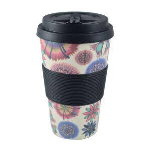 Estia Bamboo Cup 435ml 01-8208 Οικολογική Κούπα - Flower Power