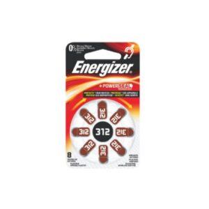 Μπαταρίες ακουστικών βαρηκοΐας σε blister Καφέ ΖΑ312 Energizer