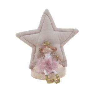 Διακοσμητικό Xmas Αστερι λευκο/ροζ 13Χ7Χ14  INART 2-70-540-0086