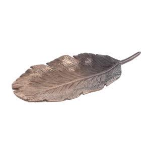 Διακοσμητική Πιατέλα Αλουμινίου Μπρονζε inart 36x18x5εκ. 3-70-579-0054