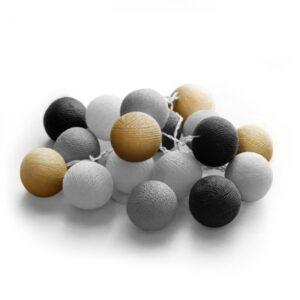 20 LED Cotton balls με μπαταρία & χρονοδιακόπτη (Night) 27-00421 fosme