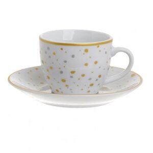 Σετ 6τμχ Φλυτζάνια Καφέ Πορσελάνης inart 90ml 3-60-432-0010