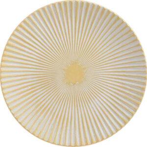 Ξύλινη Πιατέλα Inart 3-70-686-0023 Κίτρινη