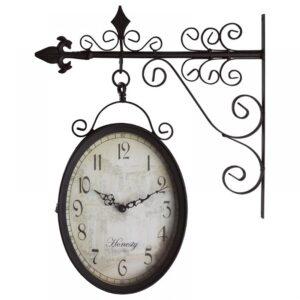 INART Ρολόι Τοίχου Μεταλλικό Σταθμού Καφέ 3-25-021-0104