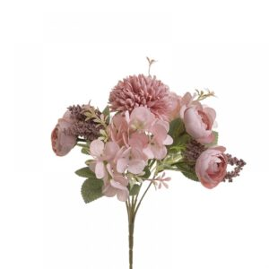 INART Λουλούδι/Μπουκέτο 25 εκ Pink-Purple, Green ΚΩΔ: 3-85-505-0068