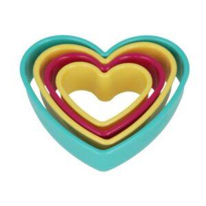 Cut Pat Πλαστικό 4τμχ Καρδιά Metaltex  Κωδικό 259122