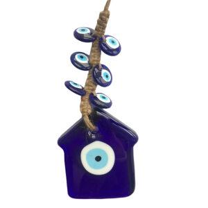 Γούρι κρεμαστό Μάτι μπλε/λευκό 31εκ Inart 3-70-151-0258