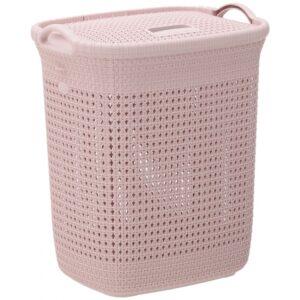 Καλάθι απλύτων 52Lt Πλεκτό ροζ Click 6-65-220-0003