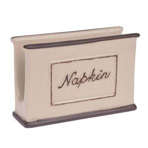 Χαρτοπετσετοθήκη πορσελάνινη μπέζ 3-60-931-0092 Inart