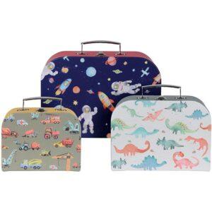 Κουτιά-βαλιτσάκια σετ3 παιδικά για αγόρι JK Home Decoration 397585