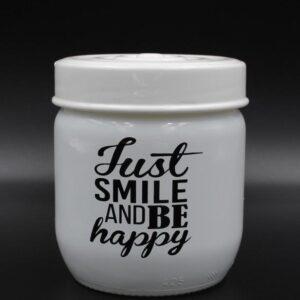 Δοχείο Κουζίνας Γυάλινο 425ml Just Smile Veltihome 21-14635 White