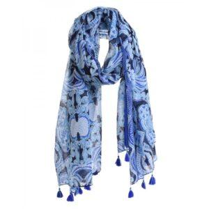 Ble 5-43-304-0059 Φουλάρι/Παρεό Blue, Green 180x100x0