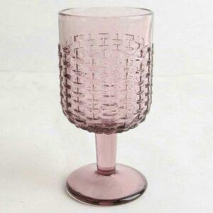 Σετ 6 Τεμ. Ποτήρια Κολωνάτα Κρασιού Rattan Purple Marva 829008