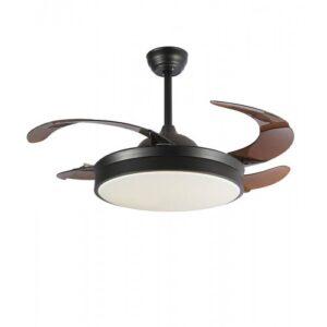 Ανεμιστήρας – φωτιστικό οροφής τηλεχειριζόμενος με 6 ταχύτητες σε καφέ με μαύρο χρώμα 02-00174