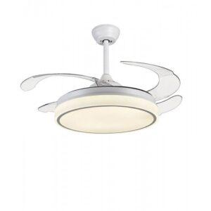 Ανεμιστήρας – φωτιστικό οροφής τηλεχειριζόμενος με 6 ταχύτητες σε λευκό χρώμα 02-00176