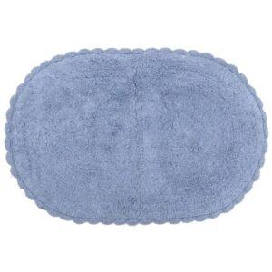 Πατάκι μπάνιου υφασμάτινο γαλάζιο 80x56εκ Click 6-40-803-0009