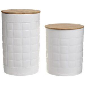 Βάζα αποθήκευσης σετ 2 τεμαχίων πορσελάνης λευκό Click 6-60-476-0007