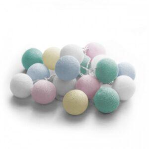 FOS ME 20 LED Cotton balls με φις (Candy) 4.5V - 27-00438