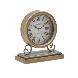 Inart Επιτραπέζιο Ρολόι Μ20Π10Υ23 Χρυσό 3-20-773-0350