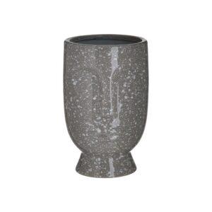 Inart Διακοσμητικό Βάζο Κεραμικό Πρόσωπο Γκρι 15x15x23cm Κωδ: 3-70-685-0242