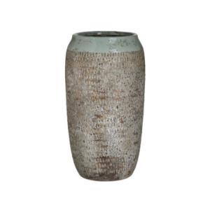 Inart Διακοσμητικό Βάζο Κεραμικό Βεραμάν - Μπεζ 15x15x26cm Κωδικός: 3-70-685-0232