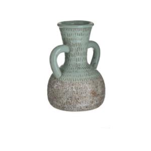 Inart Διακοσμητικό Βάζο Κεραμικό Βεραμάν - Μπεζ 17x17x25cm Κωδικός: 3-70-685-0230