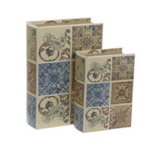 Inart Κουτί/Βιβλίο Σετ Των 2 19X8X27 Multi ΚΩΔΙΚΟΣ: 3-70-106-0021