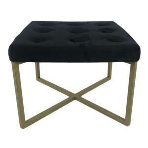 Click Σκαμπό Black, Golden 40x30x40 Κωδικός: 6-50-013-0006